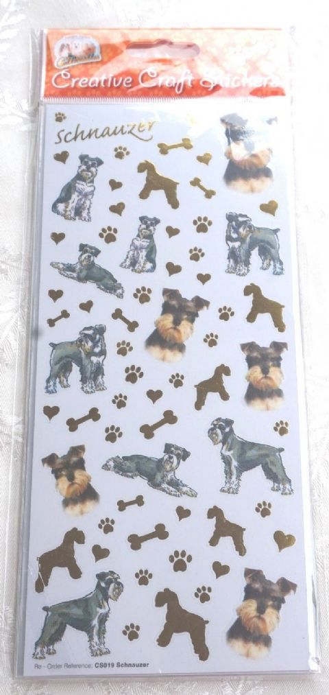 SCHNAUZER -   CRAFT STICKERS  SCRAPBOOKING CARD CRAFT ETC